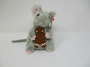 Ty Beanie Baby Stirring Mouse With Gingerbread Year 2007 NWT Plush Holiday