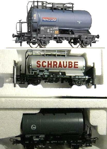 Roco H0 47071 66766 67853 3x Kesselwagen Nacco   Schraube   EVA  DB Ep.4 NEU OVP