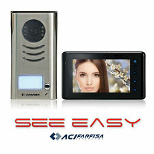 "FARFISA Wired Video Door Phone Doorbell Intercom System 7"" Color TFT LCD Screen"