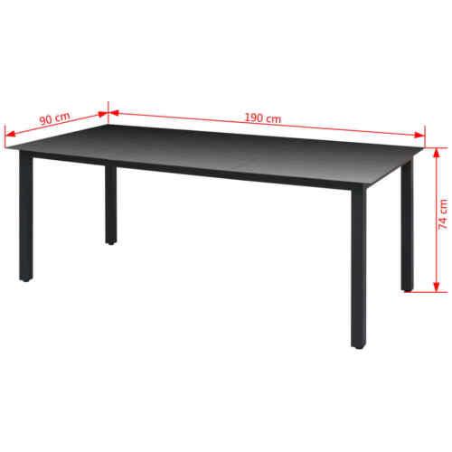 Garten-Esstisch Tisch Esstisch Balkontisch Terrassentisch Wohntisch Glas Alu