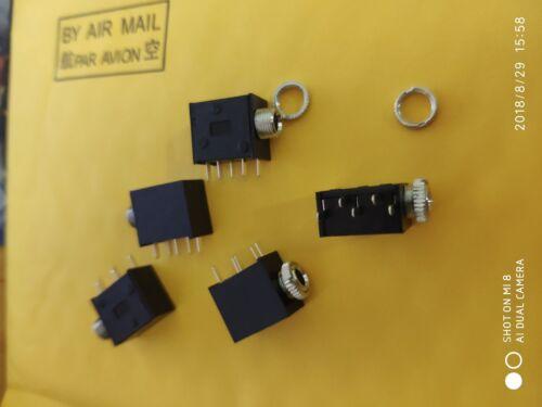 20PC 5pin 3.5mm Jack Stereo Headphones Socket nut Panel Mount Chassis PJ325M