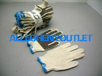6 Pair Poly/cotton Pvc Coated Anti Slip Palm Work Ppe Gloves S / M Free Shipping