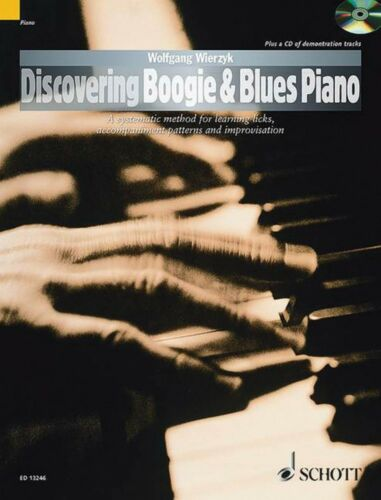 Discovering Boogie /& Blues Piano Piano Book and CD NEW Schott 049043978