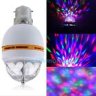 B22 3W RGB LED Crystal Stage Rotating Color Light Bulb Lamp For Party Disco Bar