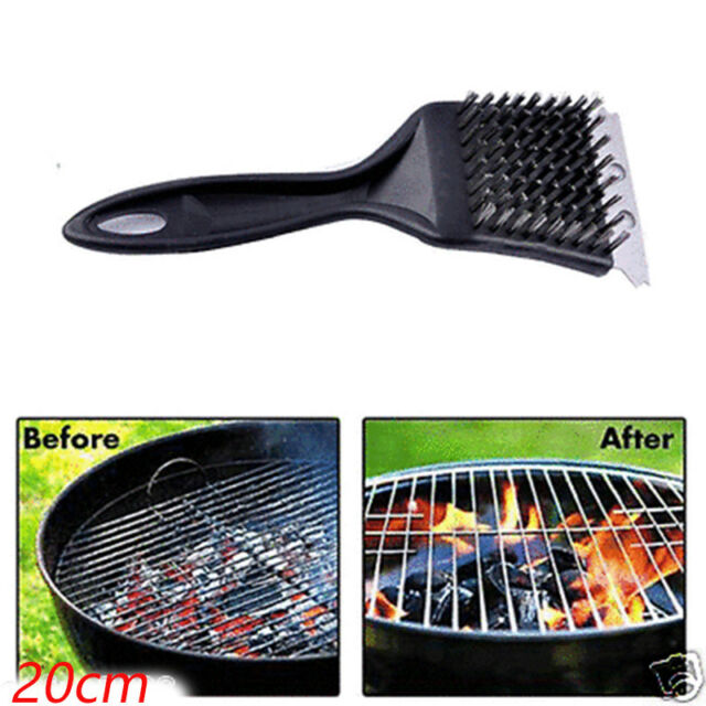 Stainless Steel Grill Steam BBQ Cleaning Cleaner Brush Barbecue Cooking Tools JI