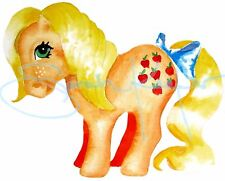 My Little Pony G1 Applejack Apple Jack watercolor print by ponyqueen