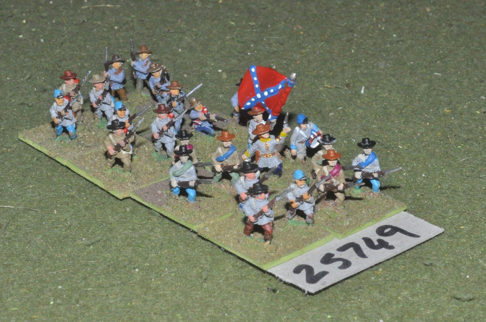 15mm ACW   confederate - regt. 24 figures - inf (25749)