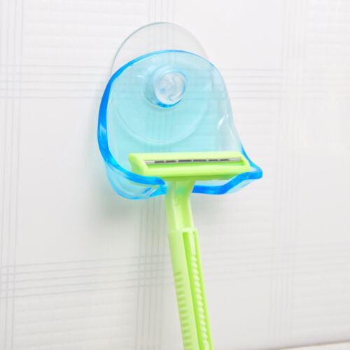 1PC Plastic Sucked Suction Cup Razor Shaver Holder Wall-mounted Rack Hanger 13