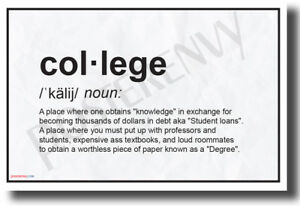 College-Definition-NEW-Humorous-College-Dorm-POSTER