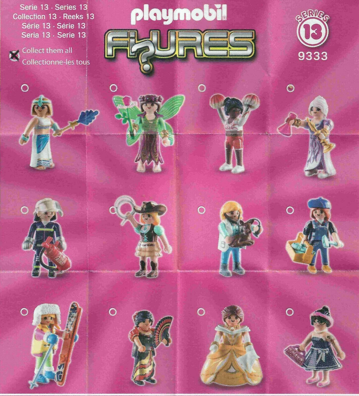 Playmobil Figures Series 13 Blind Bag Set 9333 PINK LOT of 3 NEW Free Shipping