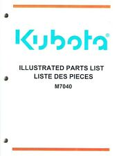 Kubota Huge M7040 Tractors Parts Manual New