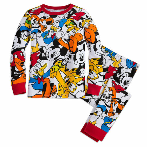 Disney Store Mickey Mouse 2 PC Long Sleeve Tight Fit Cotton Pajama Set Boy 5