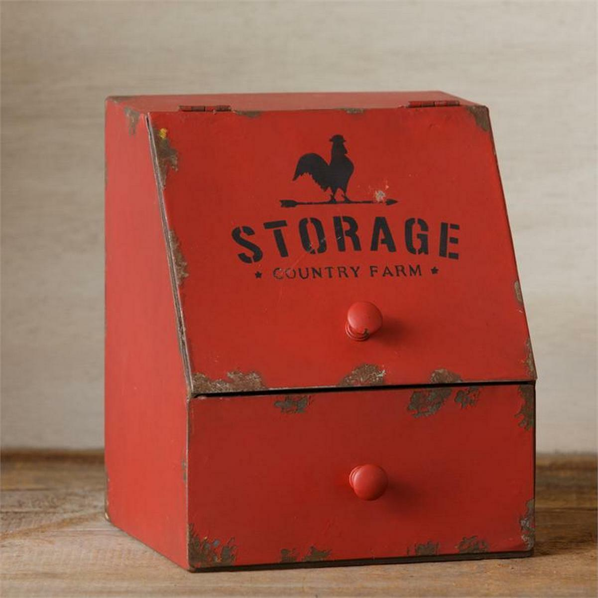 Vintage Reproduction Farmhouse Counter Bin Tin Canister New