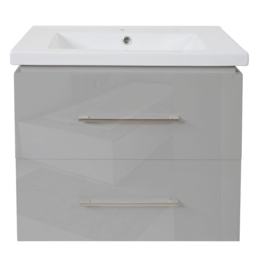 meuble bas hwc-d16 Lavabo Lavabo brillant 60 cm Premium Lavabo
