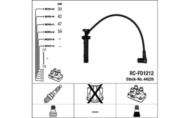 NGK Cables de bujias 44220
