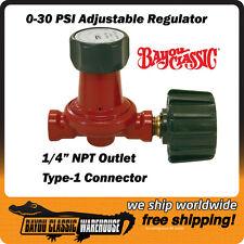 LPG Propane Regulator Control Valve High Pressure 10 psi Bayou Classic 7000