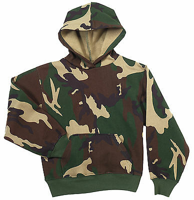 Rothco 6490 Kid/'s Camo Pullover Hooded Sweatshirt Woodland Camo