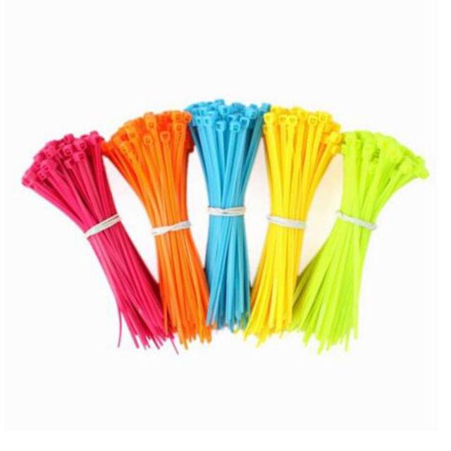 Strong Nylon Plastic Cable Ties Zip Tie Wraps organizer 100*2.5mm 100pcs New\