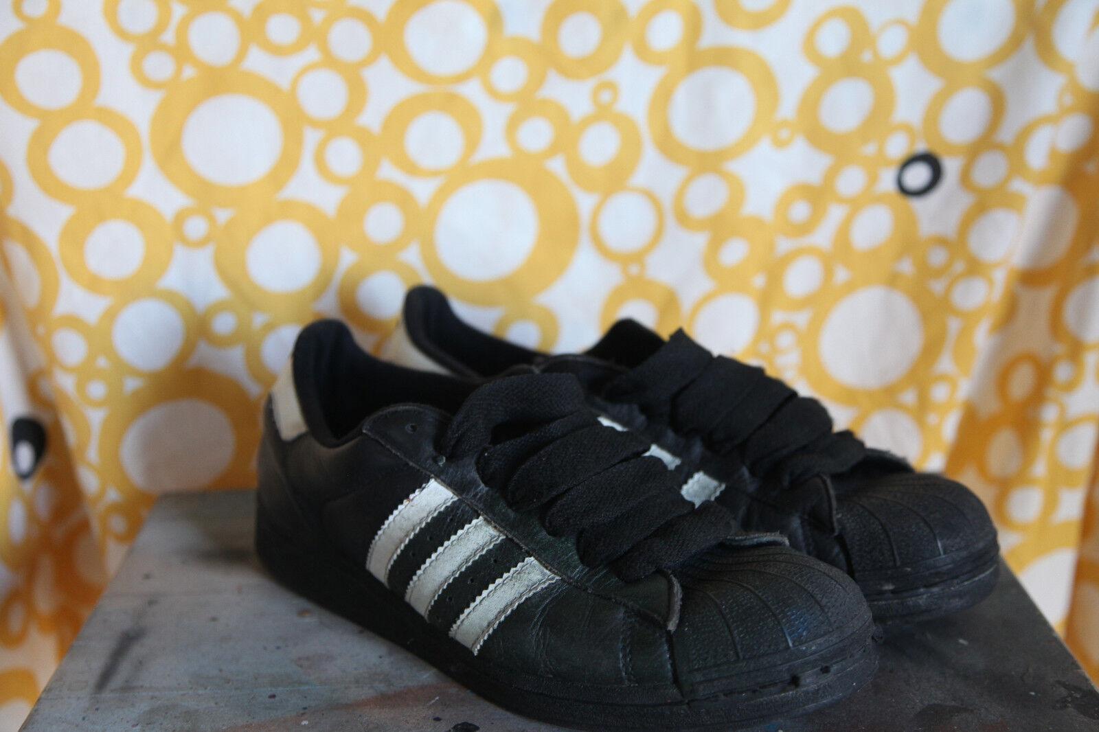 Adidas superstar nero 'degli / bianco sz noi 9 meta 'degli nero anni' 90 e900f5