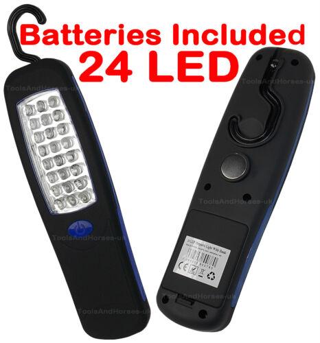 24 LED Work Light Torch SUPER BRIGHT - Mechanics Inspection Light Magnetic & Hok