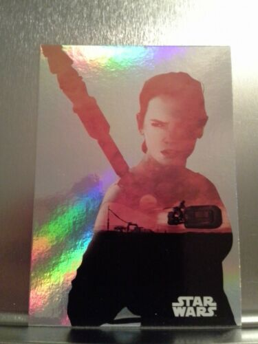 Topps Journey to Star Wars The Force Awakens Character Silhouette Foil set 8