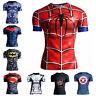 Men's 3D Print Sports T-shirt Marvel Superhero Athletic Slim Fit t-Shirts Jersey