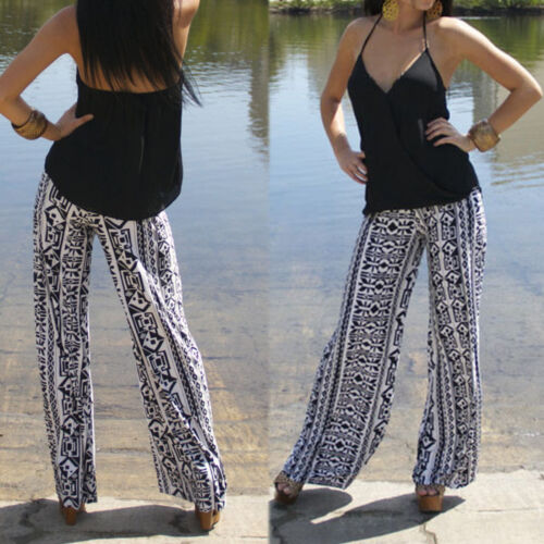 Women Harem Long Pants Hippie Wide Leg Gypsy Yoga Dance Boho Palazzo Trousers