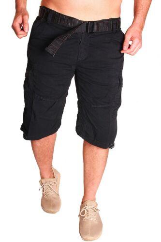 Men/'s Bermuda Jeans With Belt Shorts Capri Pants Cotton 3//4 Summer New B 2.7