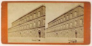 Palais Pitti Florence Italia Foto Stereo PL55L4n Vintage Albumina c1880