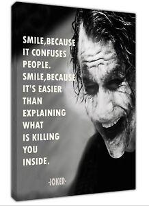 Joker Smile Car Imprimé Photo Sur Encadrée Toile Mural Art Maison Décoration-afficher Le Titre D'origine