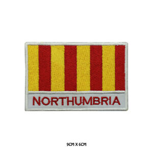 NORTHUMBRIA-County-Flag-With-Name-Embroidered-Patch-Iron-on-Sew-On-Badge