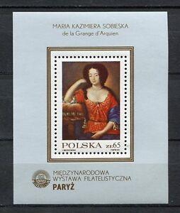 36110) Poland 1982 MNH Maria Kaziera Sobieska S/S