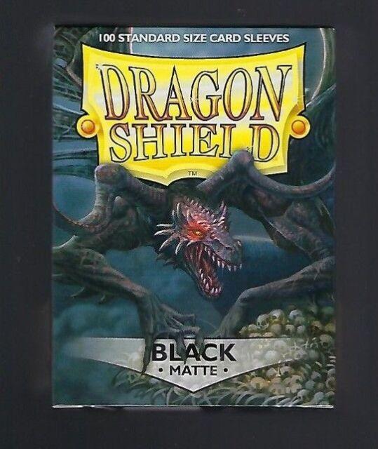 Dragon Shield Matte Black (100) Shield Sleeves Free Shipping