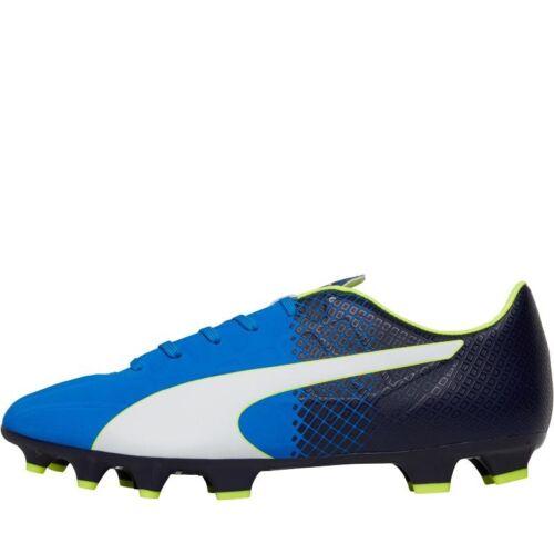 Blue UK 9 EU 43 Puma Mens evoSPEED 4.5 FG Tricks Football Boots BNIB