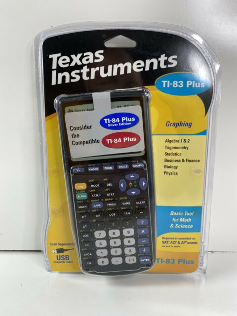 BRAND NEW! TEXAS INSTRUMENTS TI-83 PLUS GRAPHING CALCULATOR - BLACK ~