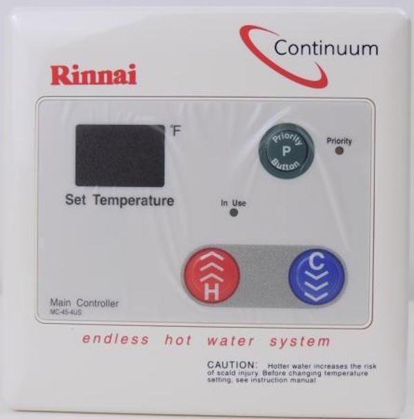 Rinnai Mc 45 4us Tankless Water Heater Digital Remote Control Mc454 MC454US