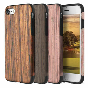 For Apple Iphone 6s Plus Hybrid Shockproof Natural Bamboo Wood Wooden Case Ebay