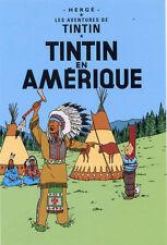POSTCARD Hergé ADVENTURES OF TINTIN, TINTIN in America