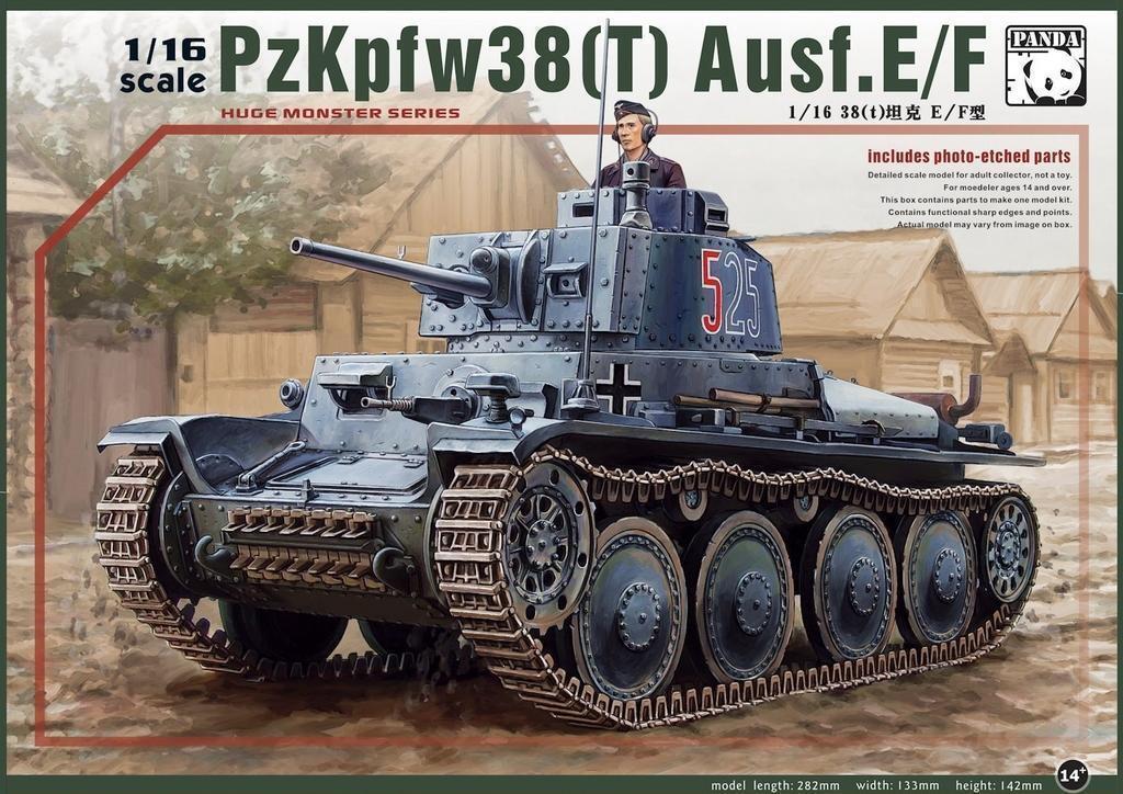 Panda Hobby 1 16  16001 Pz.Kpfw.38(t) Ausf.E F