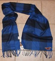 Hollister Mens Blue 100% Acrylic Scarf