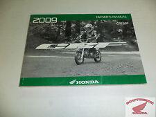 GENUINE HONDA OWNER'S MANUAL CRF50F 2009