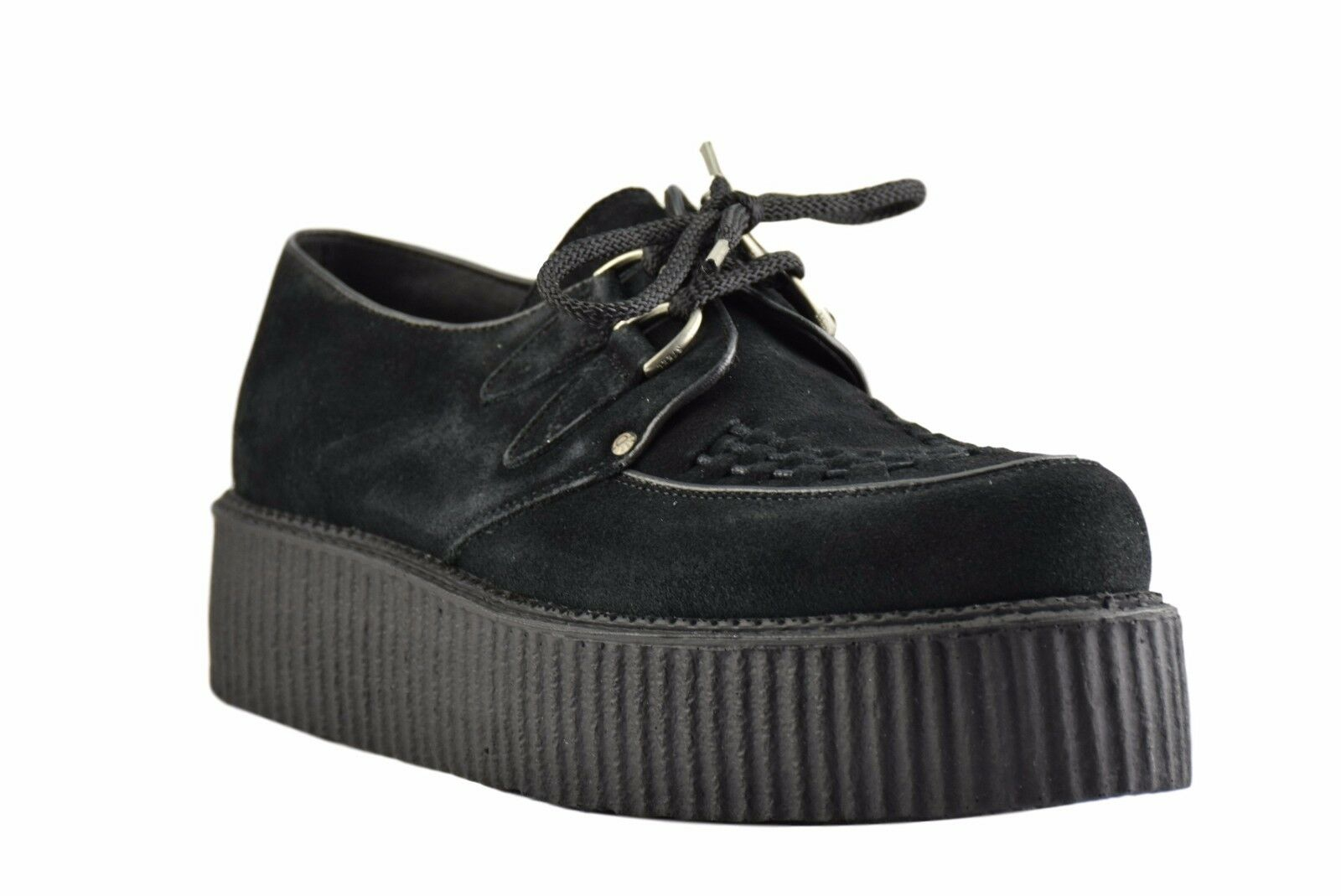 Steel Ground Schuhes schwarz Suede Creepers High Sole D Ring Casual Rock Sc300Z4