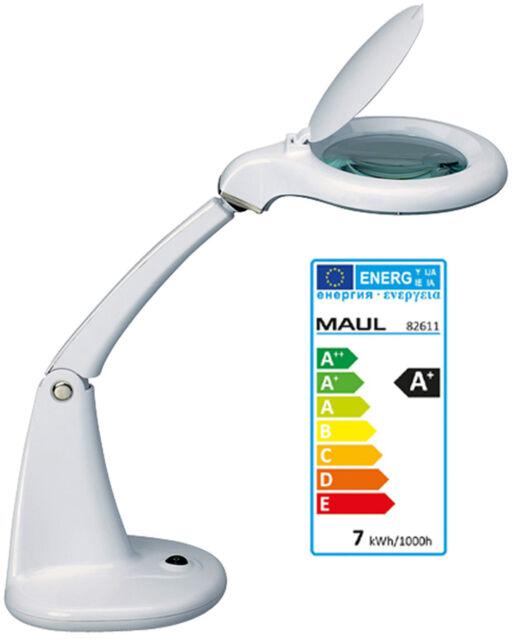 Maul MAULduplex weiß LED-Lupenleuchte Lupenlampe Standfuß 988a 8261102