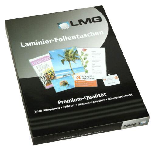 125 mic 25 LMG Laminierfolien glänzend für A2