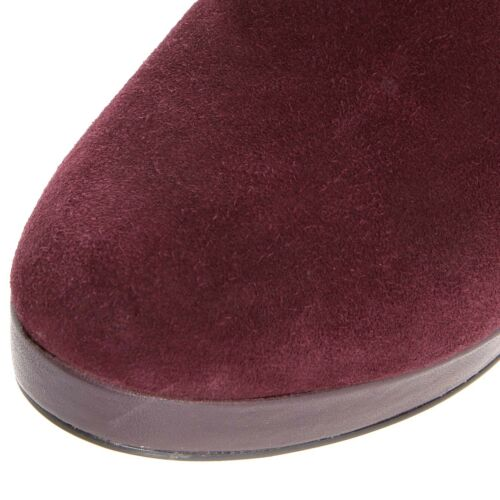 RRP £130 DUNE SIZE 6 7 8 OLYMPE PLUM MAUVE BURGUNDY REAL LEATHER ANKLE BOOTS NEW