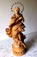 Madonna Immaculata von Bildhauer Rudolf Rabeder (1898-1978), handgeschn., H 41cm