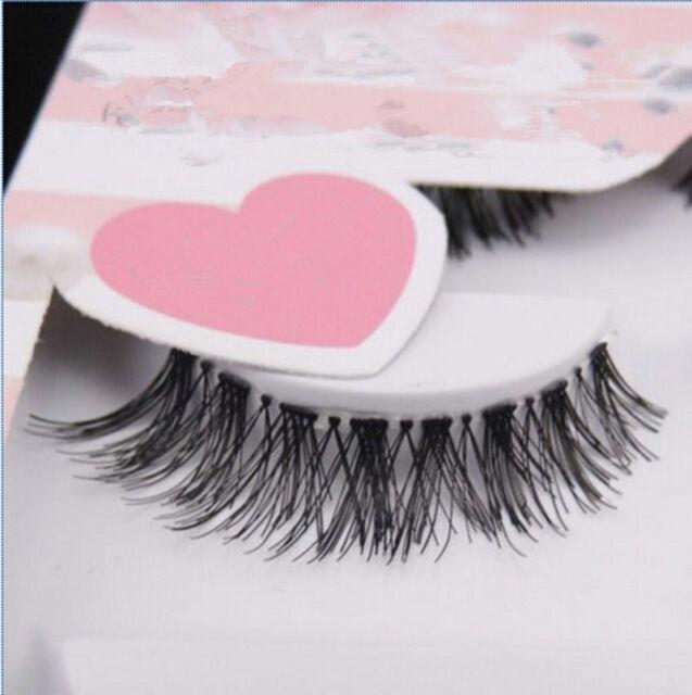 5 Pairs Lot Black Cross False Eyelash Soft Long Makeup Eye Lash Extension GN
