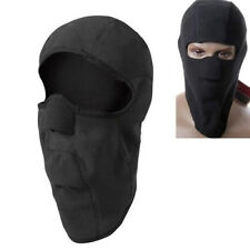 Fleece Thermal Sports Motorcycle Bike Balaclava Ski Face Mask Hood Warmer Black