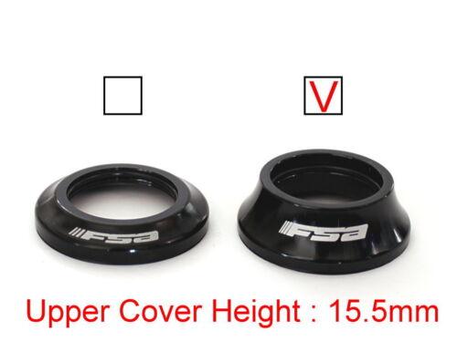 "FSA ORBIT C-40 ACB 1-1//8/"" 1.5/"" Tapered Headset For Carbon Fork Black"