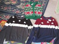 Mens Ugly Christmas Sweater Vest Or Fourth Of July Flag Sweater M L